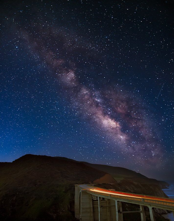 Milky Way over Bixby Bridge ~ Big Sur, California