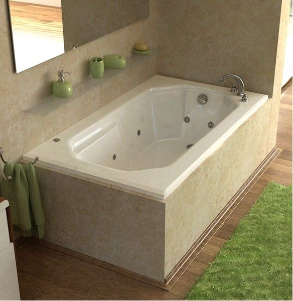 Venzi Irma 36 X 60 Rectangular Air Jetted Bathtub With Left Drain   Mega  Supply Store
