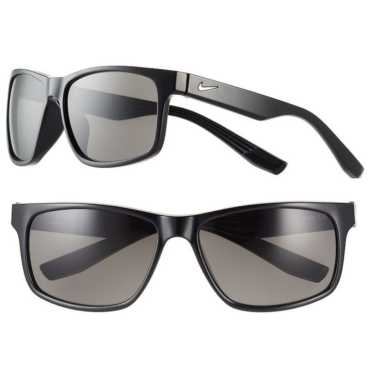 Men's Nike Cruiser Rectangular Sunglasses, Black
