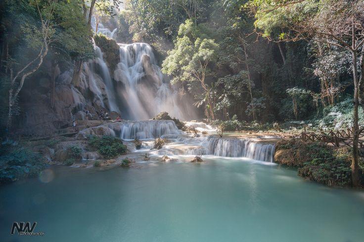 Luang Si Waterfalls near Luang Prabang, Laos
