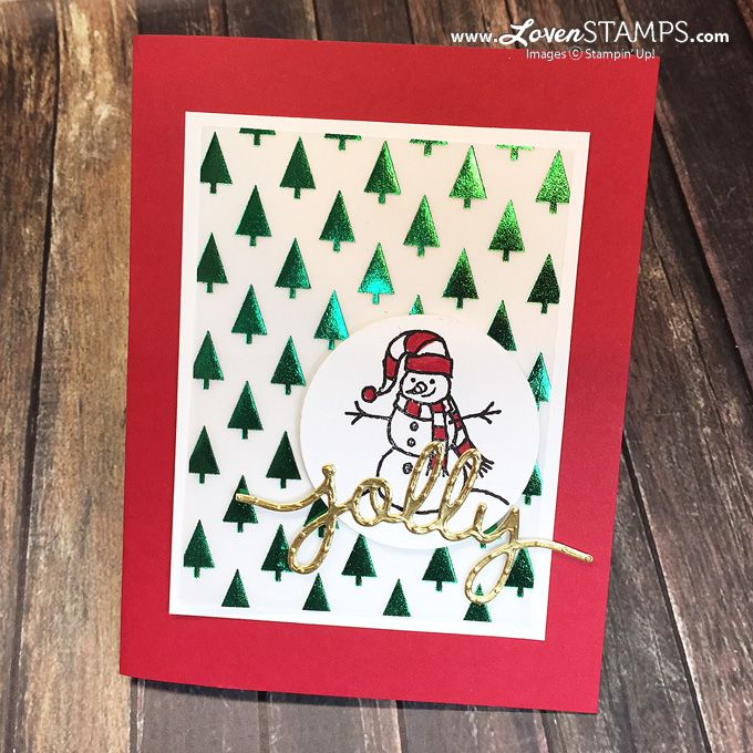 Christmas Card Making Ideas Stampin Up Part - 50: Sparkly Season - Simple Christmas Card