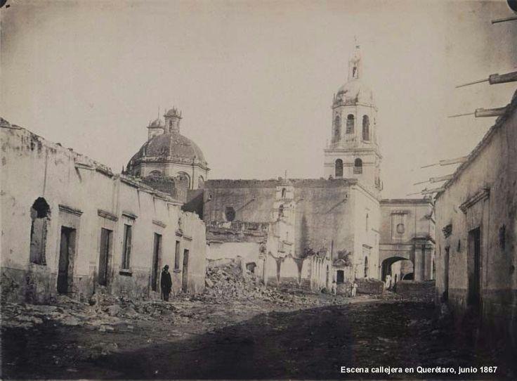 Templo y Convento de la Santa Cruz, 1867.