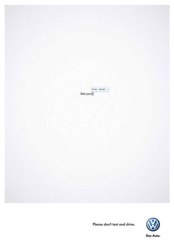Ogilvy & Mather South Africa for VW - Don't Text and Drive [2877 x 4069]