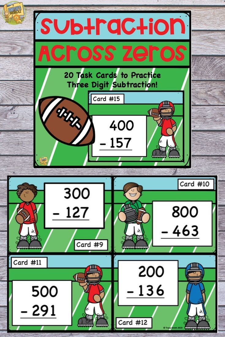 Subtraction Across Zero Three Digit Task Cards To Practice This Tough Skill Play A Game Of Scoot Use In Smal Subtraction Subtraction Across Zeros Fun Math [ 1102 x 735 Pixel ]