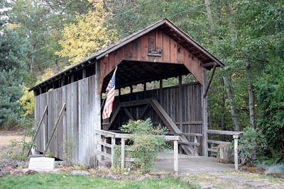 Lost Creek Covered Bridge, built about 1881