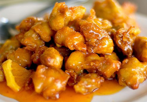 Chinese orange chicken http://www.youtube.com/watch?v=GwmKUNP2j0M