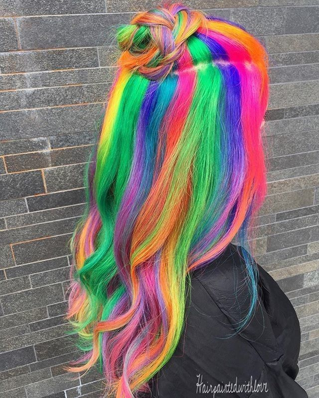 Dreaming of rainbows & magical hair colors… ☁ #hairspiration via @hairpaintedwithlove