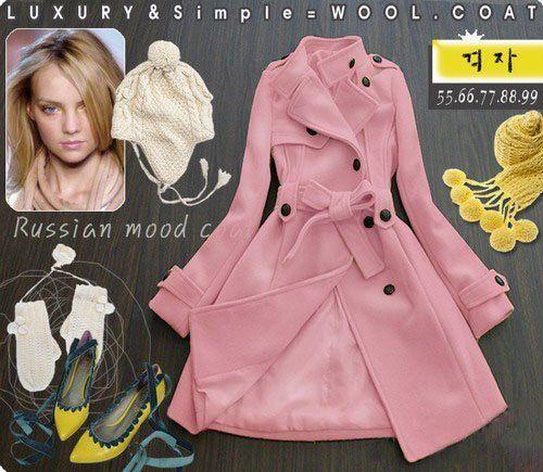 Russian Mood Winter Coat (Pink)-Large