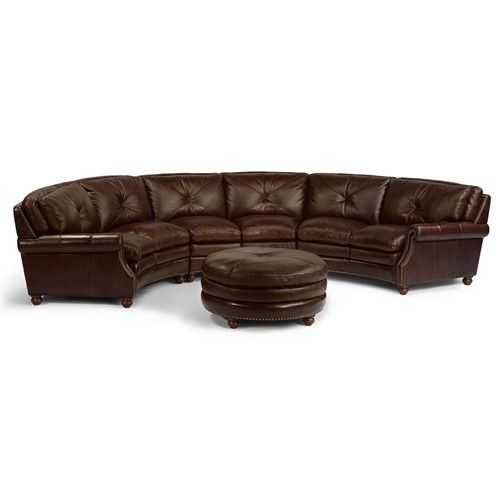 Flexsteel Suffolk Round Sectional Sofa With Nailhead Trim