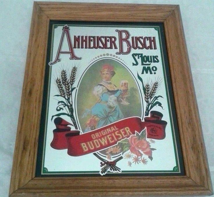Anheuser Busch Original Budweiser Mirror St Louis Pub Bar