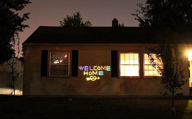 Welcome home glow sticks