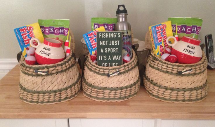 Diy Father's Day fishing gift baskets.