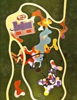 Gorgeous landscape plan painted by Burle Marx. He often turned his landscape designs into a painting.