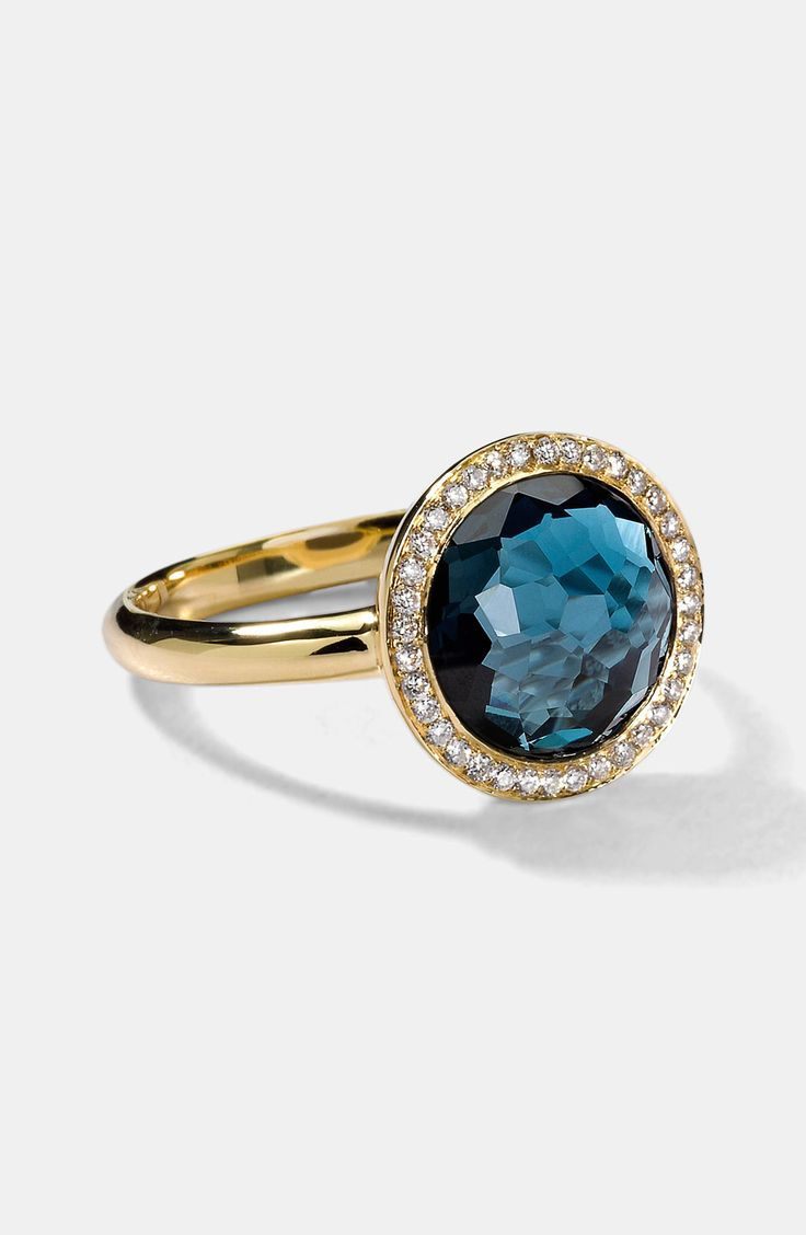 132 best rings images on pinterest rings engagements and jewelery ippolita gold rock candy mini lollipop ring in london blue topaz diamond nvjuhfo Images