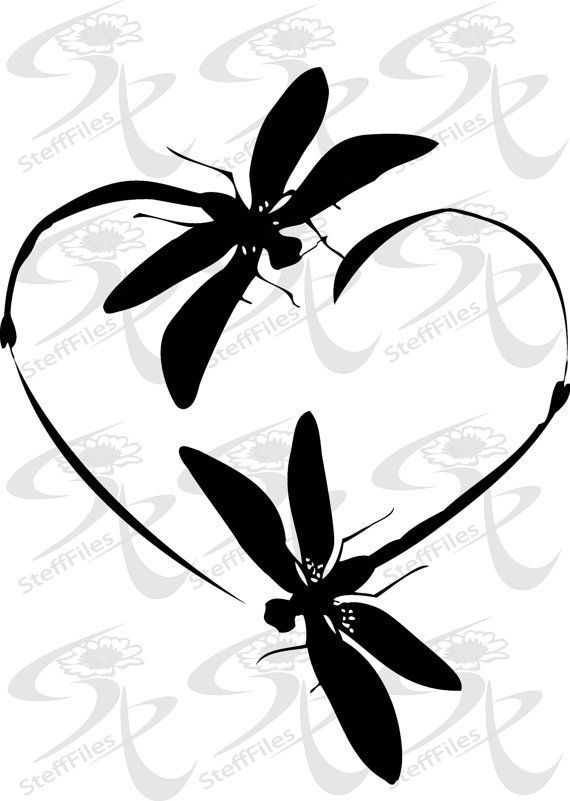 Download Vector 0295_Dragonfly LOVE_ HEART_valentines - INSTANT ...