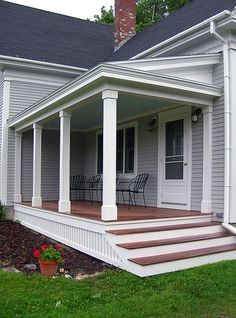 Front Porch Design and Deck Pictures. I like the look of the skirt. So much more classy than lattice.