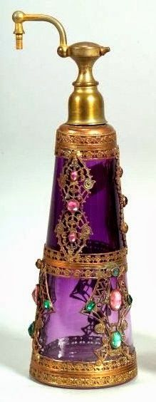 Jeweled Perfume Atomizer.