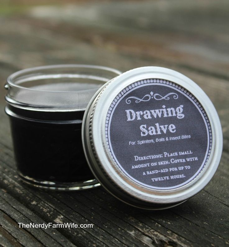 Drawing Salve: 6 tablespoons infused olive oil*.. 2 tablespoons castor oil.. 2 teaspoons beeswax.. 3 teaspoons activated charcoal.. 3 teaspoons clay (kaolin or bentonite, etc).. essential oils: 30 drops lavender, 15 drops tea tree..