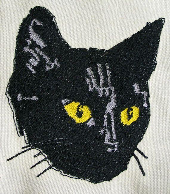 Large Black Cat Patch on Etsy, $5.00