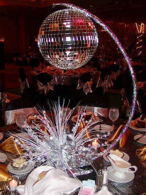 disco ball centerpieces - Google Search