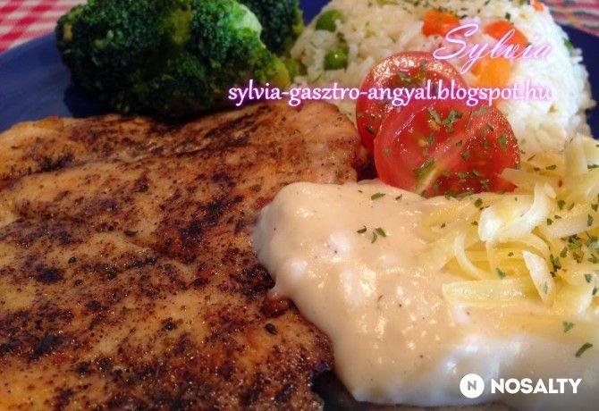 Csirkemell sajtmártással Sylvia Gasztro Angyal konyhájából
