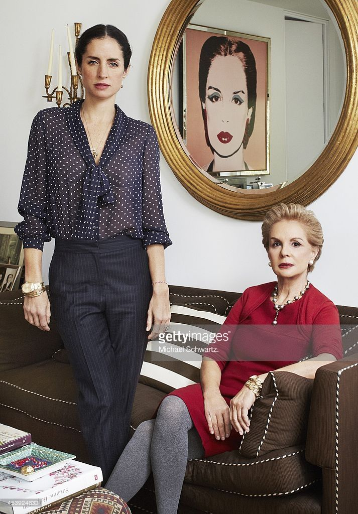 Designer Carolina Herrera and her daughter Carolina Adriana Herrera are photographed for Vogue Korea on February 13, 2013 in New York City.