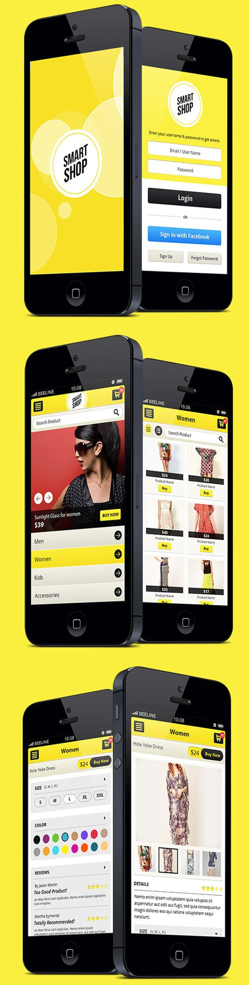 Smart Shop Mobile E-Commerce Website or App User Interface