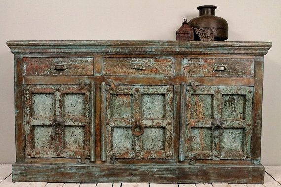 Antique+Reclaimed+Distressed+Turquoise+by+hammerandhandimports,+$999.00