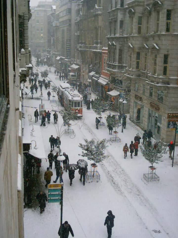 Snow in Istanbul, Turkey