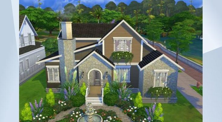 Comfortable House Dinha Houses Lots Sims4 Pinterest