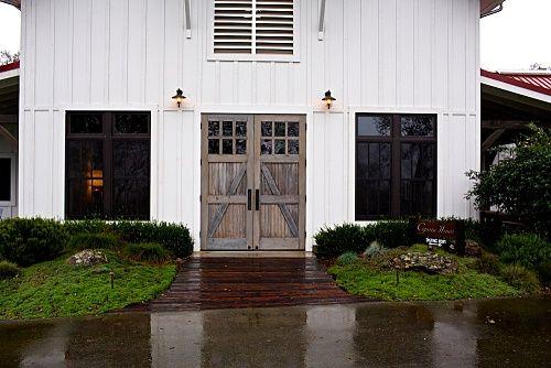 White house black windows barn weddings parties - Houses with black windows ...