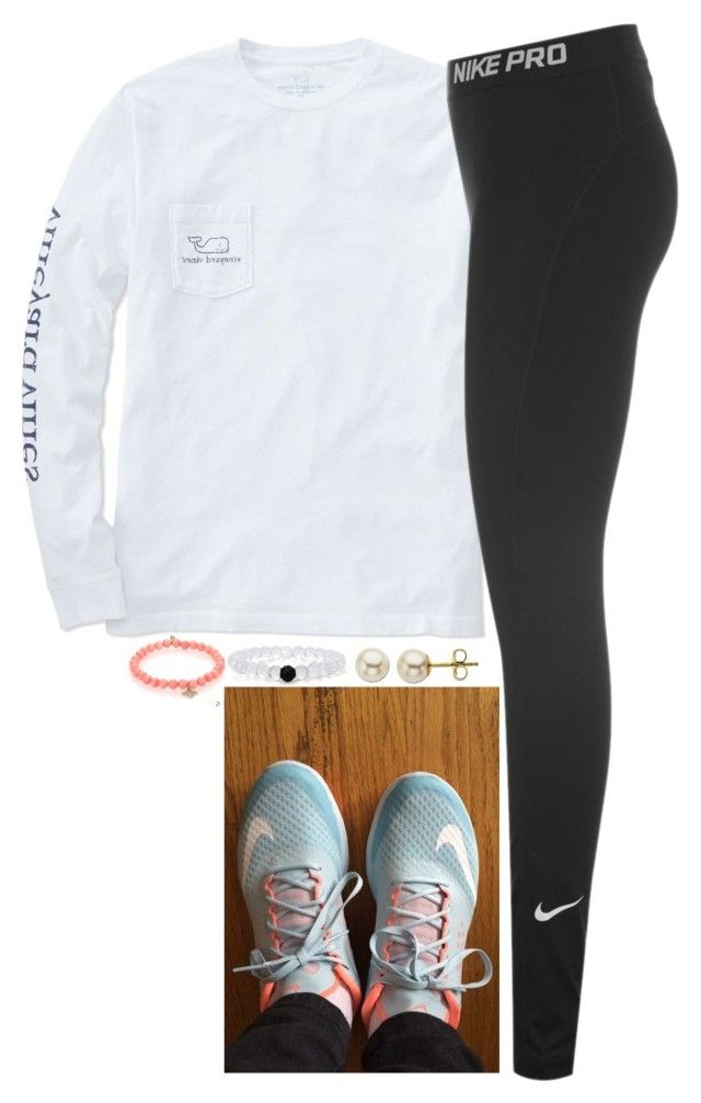 """Ended up getting these nikes!"" by meljordrum ❤ liked on Polyvore featuring Vineyard Vines, NIKE, Lord & Taylor, Sydney Evan, women's clothing, women's fashion, women, female, woman and misses"