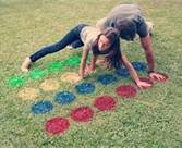 outdoor twister game -   (not that i would play this game but it might be fun for the kids )