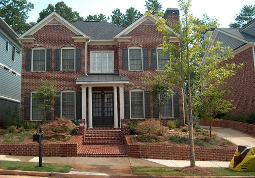 I Like This Brick Color Scheme Traditional Red Brick White