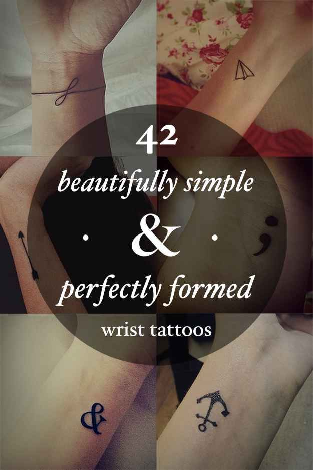 tattoos -                                                      42 Beautifully Simple And Perfectly Formed Small Wrist Tattoos (#28, 35, 36, 37)
