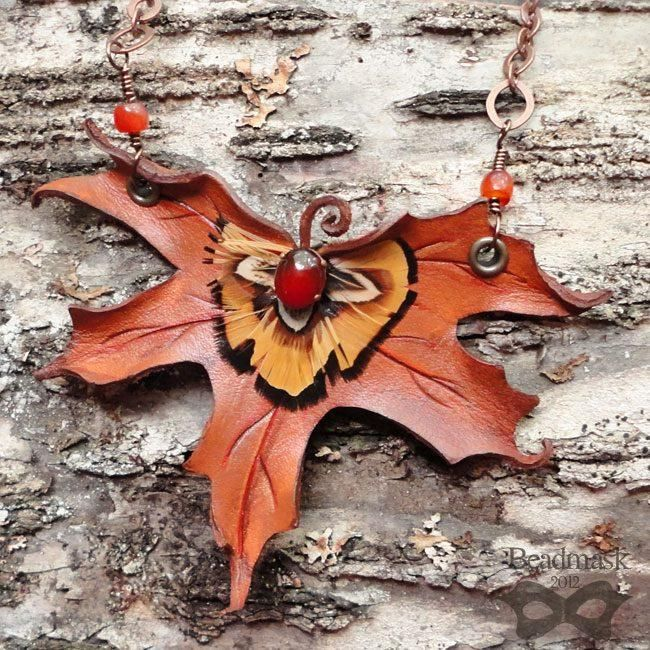 How to make Leather Leaf Jewelry