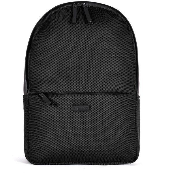 Rains Mesh Bag - Black (£75) ❤ liked on Polyvore featuring bags, backpacks, backpack, black, backpacks bags, water proof bag, padded bag, waterproof rucksack and macbook bag