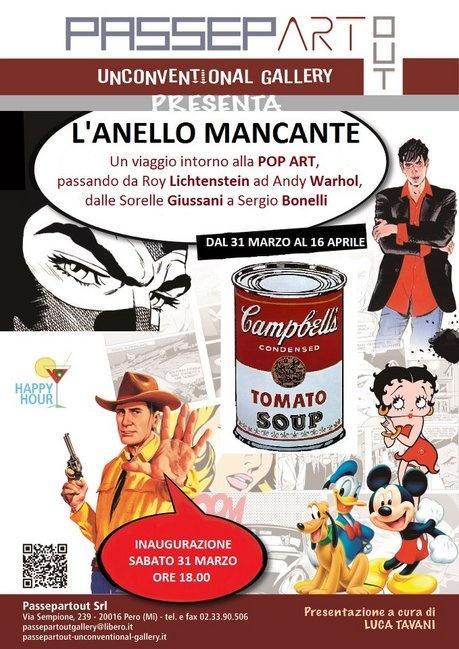 Collettiva L'ANELLO MANCANTE dal 31 marzo al 16 aprile 2012, Passepartout gallery MILANO Pero
