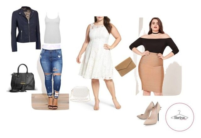 """""""chica curvy"""" by maria-belen-aguirre on Polyvore featuring moda, M&Co, Gabby Skye, Avenue, Missguided, Casadei, Charlotte Russe y plus size dresses"""