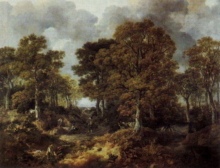 Cornard Wood; Thomas Gainsborough; olio su tela; paesaggio; 1746-7; National Gallery, Londra, Gran Bretagna.