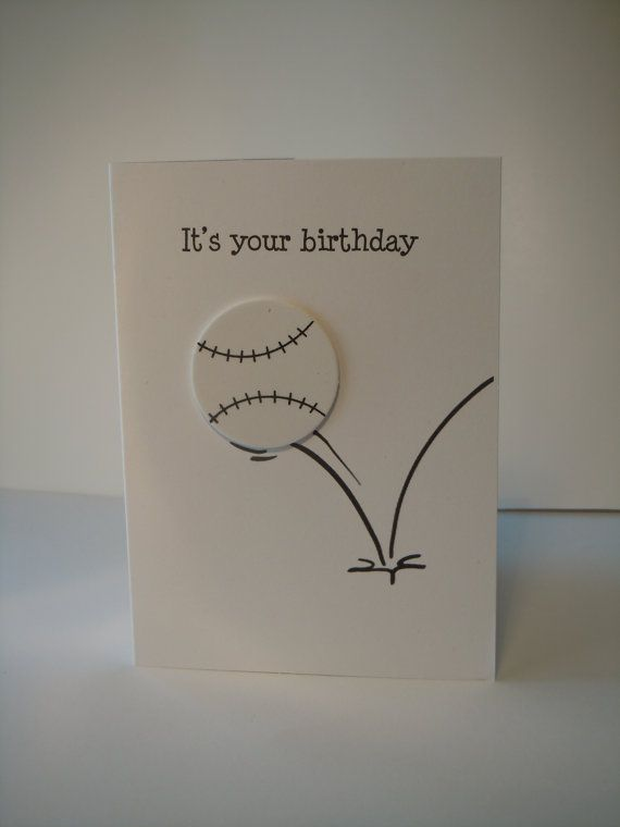 94 best sports cards images on pinterest kids cards birthdays and happy birthday handmade greeting card with white baseball or softball foam embellishment m4hsunfo