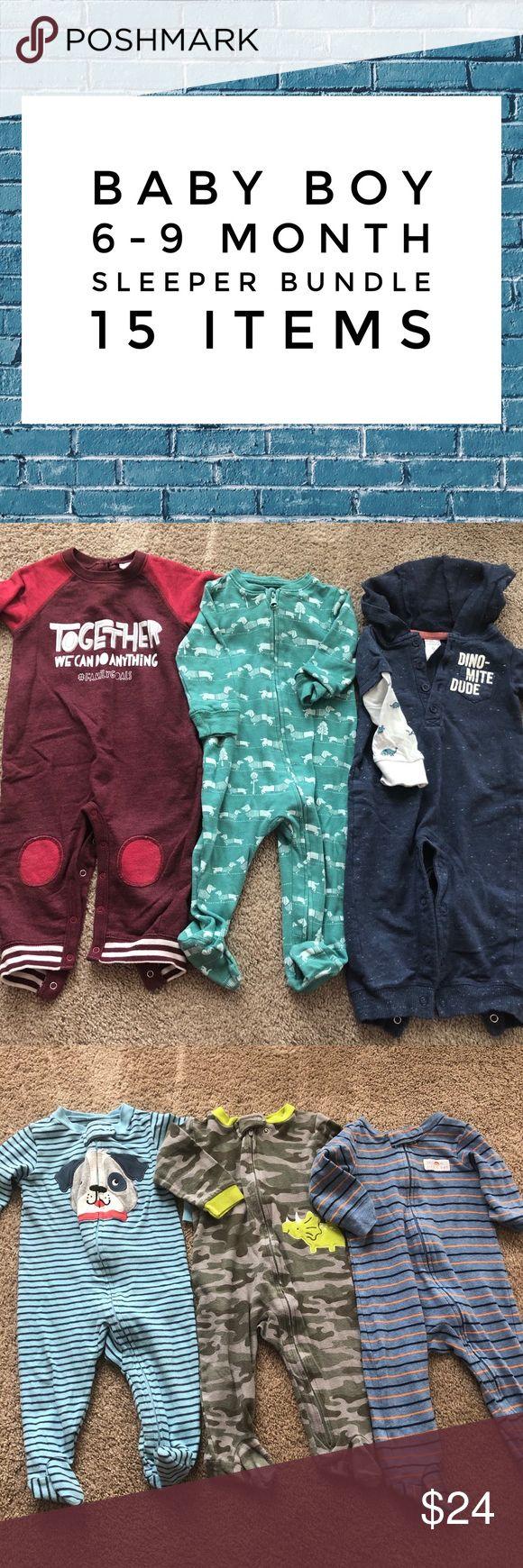 Infant Boy 69 Months Sleeper Bundle 15 items. All boys 6