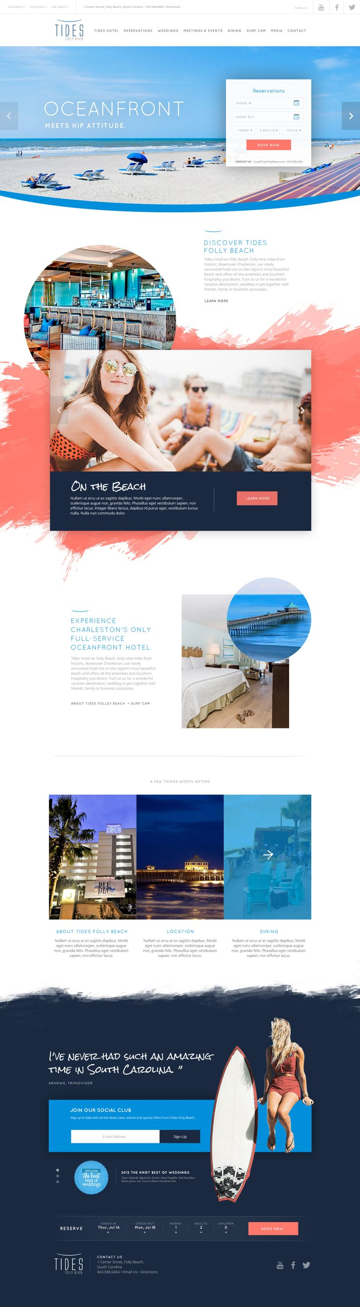 Tides Folly Beach Hotel & Resort Website Design by Agency Dominion