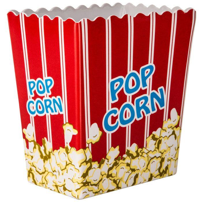 Small Striped Popcorn Bucket