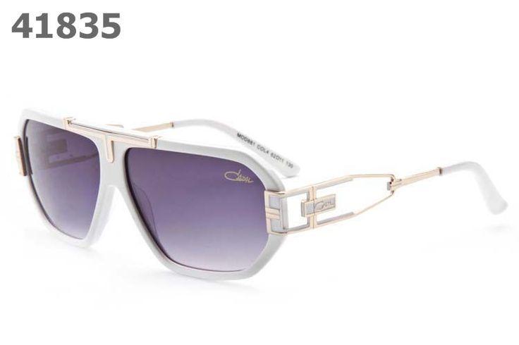 Cazal Unisex Retro Sunglasses 881 white frame purple lens