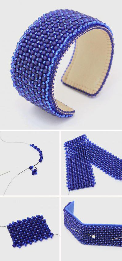 How to make bead weaving bracelet. Click on image to see step-by-step tutorial