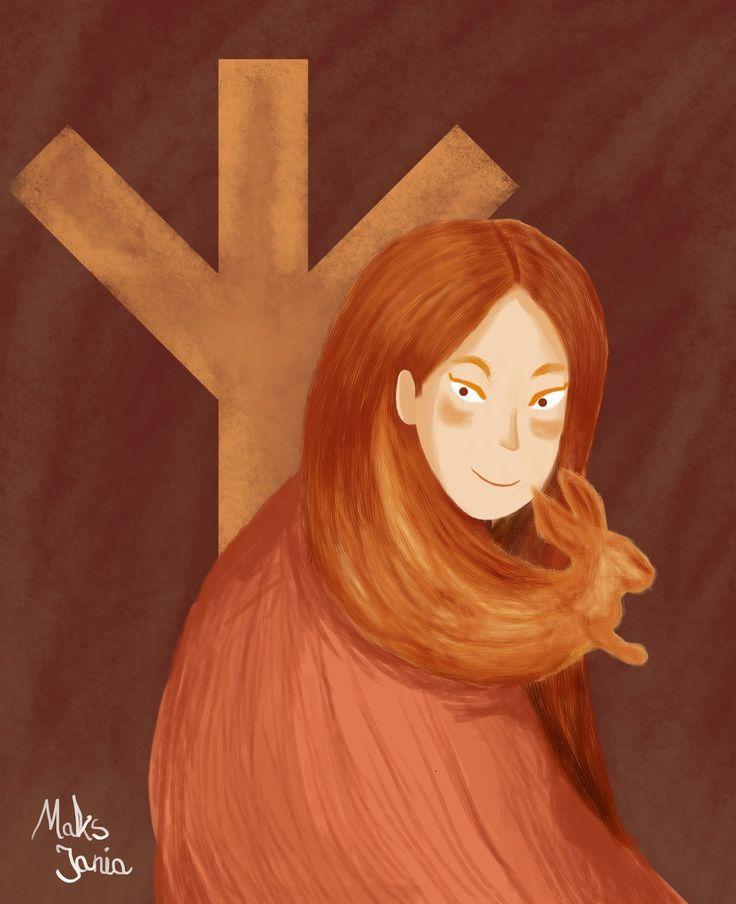 SORCERESS - algiz, sorceress, illustration - maksmj | ello
