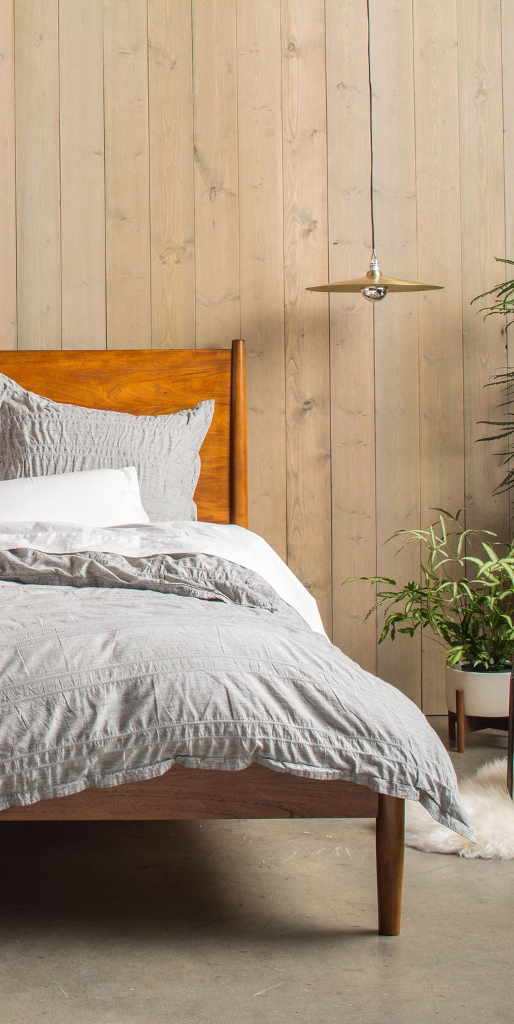 A heathered grey duvet set by Parachute Home to update your bedding basics. http://www.parachutehome.com/products/heathered-stripe-duvet-set?variant=8041162305