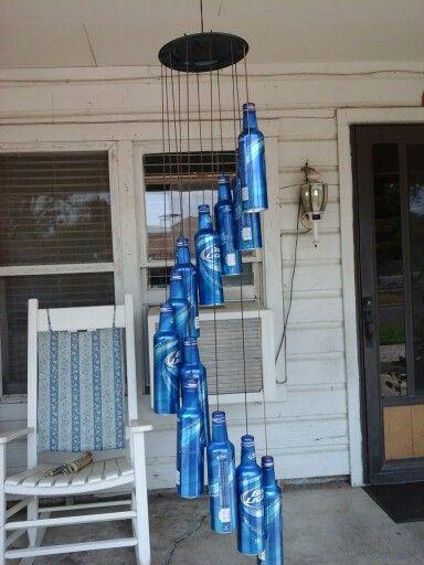 Beer aluminum bottle windchimes  Mums  Pinterest