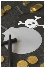 Inbjudningskort till Sjörövarkalas http://www.dansukker.se/se/inspiration/barnkalas/sjorovarkalas/pyssel-och-lekar.aspx #inbjudningskort #barnkalas #pirater